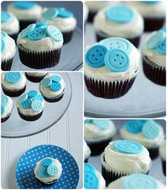 Bake at 350: Cute as a Button Cupcakes
