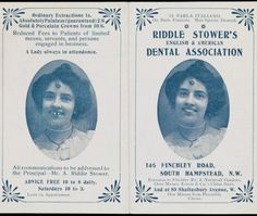 """1900: """"Before and after"""" dental flyer"""