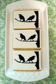 Birds Silhouette Decorated Cookie