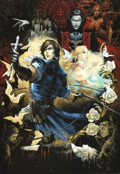 Dracula, Maria and Richter, Castlevania: The Dracula X Chronicles Castlevania Dracula, Castlevania Games, Castlevania Anime, Castlevania Video Game, Belmont Castlevania, Video Game Posters, Video Game Characters, Video Game Art, Dark Fantasy