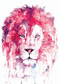 Original Lion Watercolor Art Print, Watercolor Print, Poster, Giclee Print [ANI 48-3] by paintersville. Explore more products on http://paintersville.etsy.com