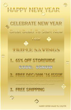 STORE.FXGLOBALLY.COM   HAPPY NEW YEAR!   Celebrate New Year with Great Deals to Start New Year.  Not One, Not Two, BUT TRIPLE SAVING.  1. 65% of Storewide with CODE:65NOW   2. Free December/January '16 Issue with Any Purchase (Item don' t need to be put in shopping cart, link will be send in an email)   3. Free Shipping      HURRY THE OFFER IS ONLY TILL 1/12/17   Visit store.fxglobally.com #online #shopping #sale #discount #forex #fx #reading #read #fun