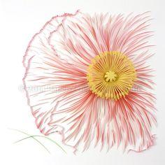 Paper Zen: Quilled Poppy in Progress (6) and DIY Pollen