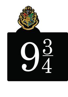 9 3/4 signage Harry Potter Hogwarts Express party decor   free & downloadable