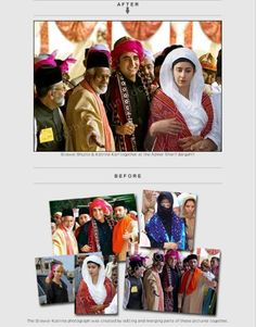 Photo editing and photo retouching services to change background, merge images, ehance photos, photo restoration, colour correction,  manipulation, blemish removal and more.  http://www.freephotoediting.com/samples/add-to-remove-from-group/051_bilawal-bhutto-visits-ajmer-sharif-dargah-with-katrina-kaif.htm