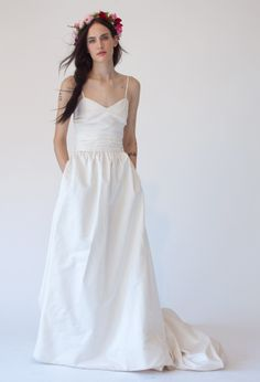Stone Fox Bride Sweetheart Neckline Johanna Wedding Dress with pockets http://www.stonefoxbride.com/shop-dresses/