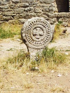 La Couvertoirade -Templar Commanderie - Templar 3cross in old cemetery #France