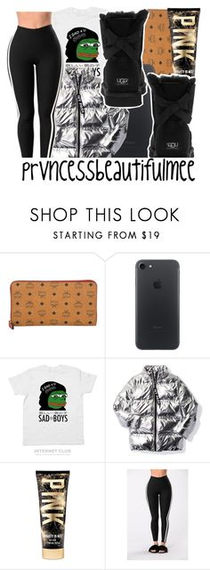 """""""sad boys ."""" by prvncessbeautifulmee ❤ liked on Polyvore featuring MCM, PèPè, Ivy Park, Victoria's Secret and UGG Australia"""