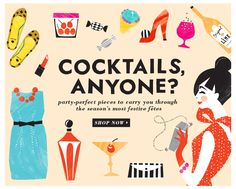 I got this in a Kate Spade email, but I think the illustrations are so cute!