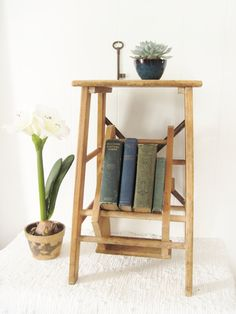 Resrverved For Bonnie ~wooden Step Stool~ Two Step Pantry Step Stool Or Painters…