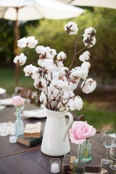 Cotton Centerpieces! Mrs. Vintage Blog ~ Kara Miller Photography