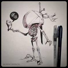 CreatureBox • Inktober Day 9: Emmit had wandered the abandoned...