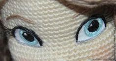 Amigurumilere İşleme Tekniği ile Göz Yapılışı-Amigurumi Eyes Tutorial - Tiny Mini Design