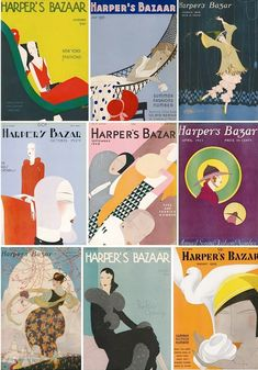 Harper's Bazaar vintage illustrations