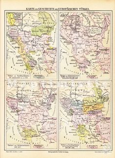 1890 Historical Map of Turkey 1346-1885 - the European part - Dated Antique Map by Maptimistic on Etsy https://www.etsy.com/listing/213680726/1890-historical-map-of-turkey-1346-1885