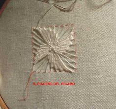 El placer de bordado: Stelline Cilaos Hand Embroidery Videos, Hand Embroidery Stitches, Embroidery Needles, Hand Embroidery Designs, Ribbon Embroidery, Embroidery Patterns, Crochet Neck Warmer, Kutch Work, Drawn Thread