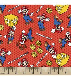 Super Mario Mamma Mia Flannel Fabric