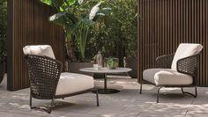 rodolfo dordoni / sedia aston cord per minotti Balcony Chairs, Balcony Furniture, Lounge Furniture, Outdoor Furniture Sets, Furniture Design, Outdoor Sofa, Outdoor Spaces, Outdoor Decor, Modern Fence Design