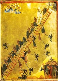 Orthodox icon of the Ladder of the Divine Ascent. Copy of an icon of cent. Monastery of Saint Catherine, Sinai Egypt. St Catherine, Art Gallery, Orthodox Icons, Medieval, Ancient, Painting, Art, Beautiful Art, Byzantine
