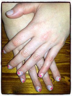 Decoración Shellac. Nails desing Shellac decoration.