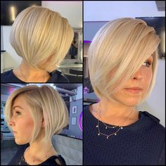 50 Best Pixie And Bob Cut Hairstyle Ideas 2019 - short-hairstyles - Graduated Bob Haircuts, Cute Bob Haircuts, Angled Bob Haircuts, Stacked Bob Hairstyles, Cool Short Hairstyles, Trending Hairstyles, Summer Hairstyles, Short Hair Cuts, Short Hair Styles