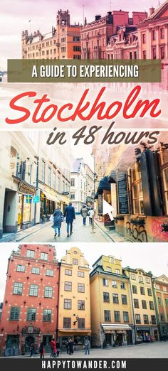 Stockholm, Sweden is one the most beautiful cities in the world! Here's a photo diary featuring inspiration for a two day (48 hour) itinerary featuring the highlights of what to do in Stockholm and what to see.