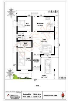 Ideas for beach house design exterior floor plans 2bhk House Plan, Simple House Plans, Model House Plan, House Layout Plans, Duplex House Plans, Duplex House Design, Family House Plans, House Front Design, Bungalow Floor Plans