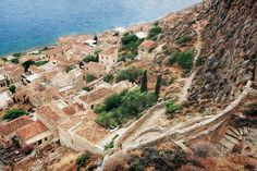 """MONEMVASIA IN PELOPNNNESE, GREECE BY Sh4un65. New media includes computer graphics, digital painting, digital art and  photo painting. This is a beautiful digital painting. Now scroll through Pinterest pins of """"Digital Painting As Art"""" which have impressed Two Bananas Art and me the most.  SEE MORE DIGITAL PAINTING AS ART NOW.... https://richard-neuman-artist.com/works"""