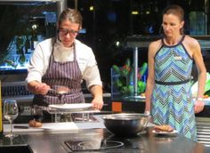 Master Sommelier Gayle Bartscherer and Chef Sarena Stern live at Fuentes Culinary Theater. #KJFriends