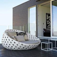B&B ITALIA CN160P Armchair | Exclusieve ronde lounge unit | Italiaanse Design Tuinmeubelen