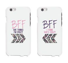 BFF Floral Arrow Cute BFF Mathing Phone Cases For Best Friends Gift - 365INLOVE