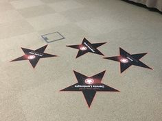 North Star Style Floor Stickers