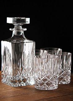 Royal Doulton Spirit Set, Square Decanter with Four DOF's- This is the EXACT size decanter I need... now why can't I find just the decanter?!