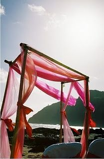 Orange and pink canopy