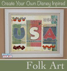 DIY Disney Inspired Americana Folk Art