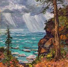 Donald Neff - Tahoe Squall, 6x6, oil on panel, SOLD