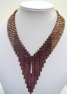 Czech rhinestone necklace