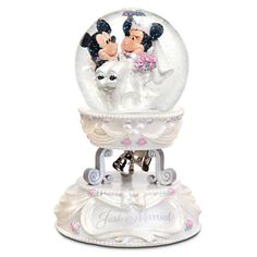 Minnie and Mickey Mouse Wedding Snowglobe $60