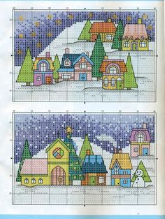 Cross Stitch World: Christmas Houses