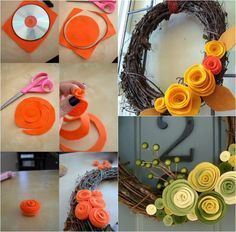 Diy ideas decoration in 50 different creative proposals. Felt Crafts, Diy And Crafts, Decoration Chic, Butterfly Crafts, Fall Diy, Christmas Countdown, Paper Cards, Craft Videos, Bohemian Decor