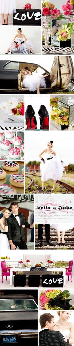 punk rock wedding theme; black + bright colors