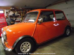 1975 austin mini cooper. orange. $8,500. first thing i get after i pay off my student loans