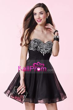 2015 Homecoming Dresses Sweetheart A Line Short/Mini Chiffon With Beads