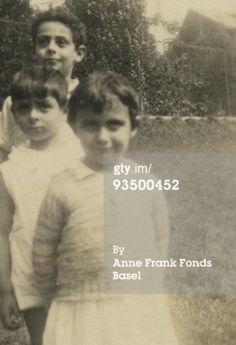 Margot with cousins, Stephan and Bernhard Elias, 1933