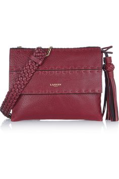 Lanvin   Sugar mini textured-leather shoulder bag   NET-A-PORTER.COM