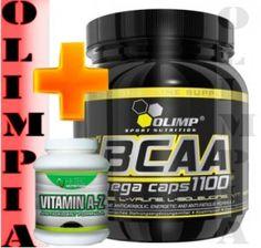 Cena: 97,20 zł OLIMP BCAA MC 300 kaps 1100 mg   witaminy