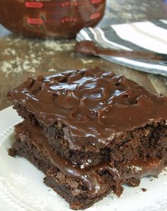 Supremely Chocolate Frosted Brownies! Ooohy, gooey, crazy good! Free of gluten, dairy, soy, peanuts, and tree nuts.