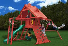 Gorilla Playsets Sun Palace II Wooden Swing Set from NJ Swingsets