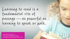 "Carol Ann Tomlinson, ""Creating Flashlight Readers,"" Educational Leadership, March 2012"