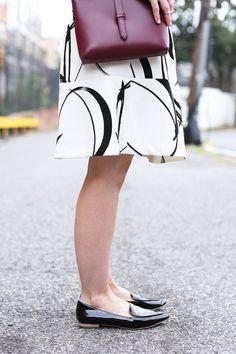 Poor Little It Girl - Black and White Skirt - @poorlilitgirl